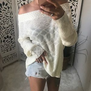 LAST 3️⃣ BLAKELY Slub Off Shoulder Sweater